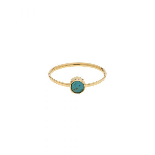 Bague 9 carats pierre turquoise