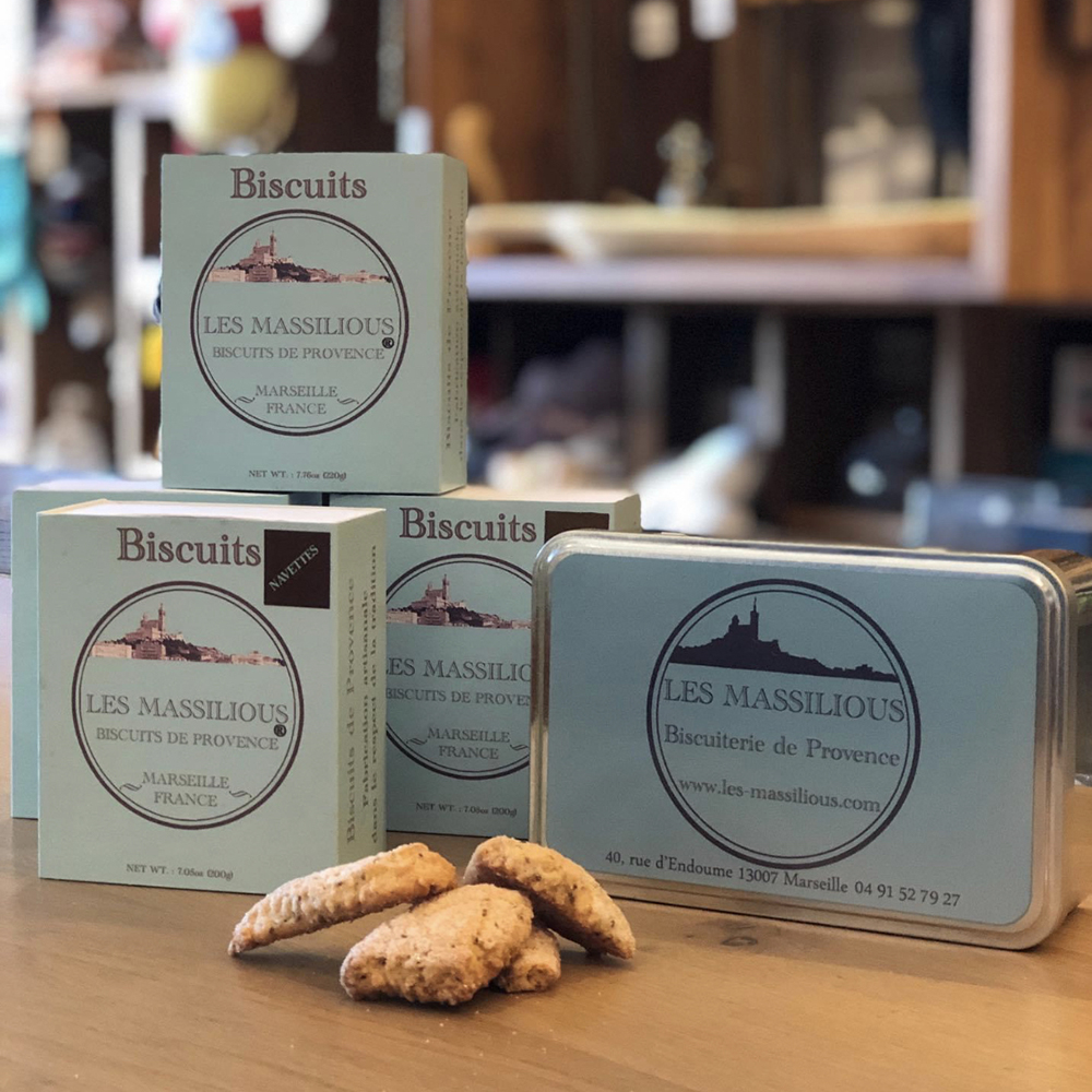 Biscuits Massilious fabriqués en Provence