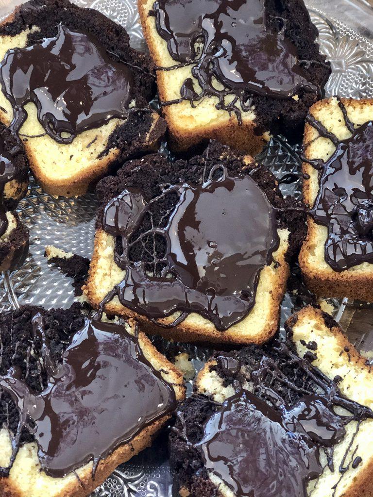 Gâteau marbré chocolat By Bibi chez By Mamé Marseille