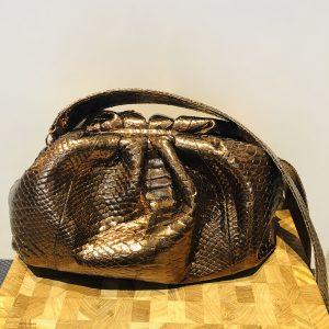 Sista Paris Sac Python Bronze grand modèle chez By Mamé Marseille