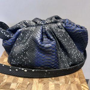 Sista Paris Sac en Python Stellar blue grand modèle chez By Mamé Marseille